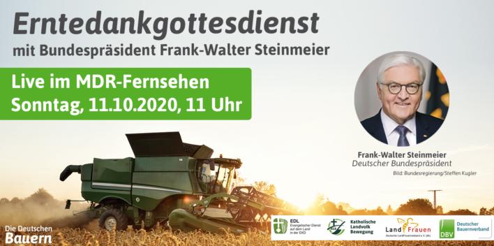 Erntedankgottesdienst in Sachsen mit Bundespräsident Dr. Frank-Walter Steinmeier